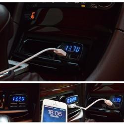 "Inteligentni auto USB punjač ""4 u 1"" crveni"