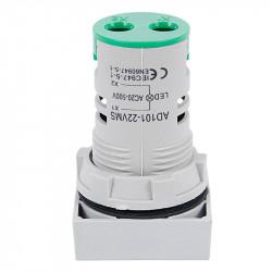 LED ampermetar 0-100A 22mm zeleni AD101-22AMS