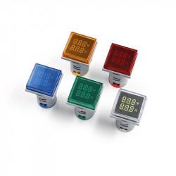 LED ampermetar/voltmetar 22mm crveni