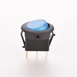 Okrugli prekidač sa tinjalicom plavi