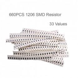 Set SMD otpornika 1206-660 komada