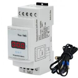 Digitalni LED termometar za montažu na DIN šinu