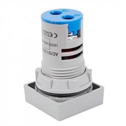 Digitalni LED voltmetar 60-500VAC 22mm plavi