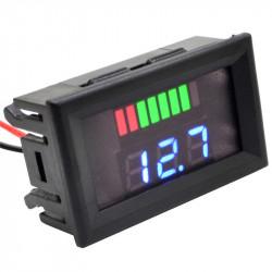 Indikator stanja akumulatora sa LED voltmetrom plavi