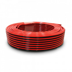 Kabl za zvučnike 2x0.75mm2 crno-crveni