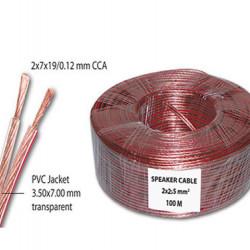 Kabl za zvučnike 2x2.5mm2 providni CCA