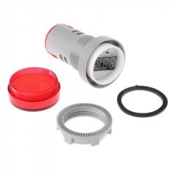 LED frekvencmetar 20-75Hz 22mm crveni