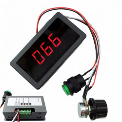 Regulator brzine DC motora 5A sa LED displejom ugradni