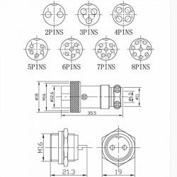 Set metalnih konektora 2 pina