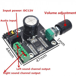 Stereo audio pojačalo 2x15W