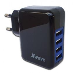 USB punjač za mobilne telefone sa 4 USB porta