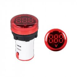 Digitalni LED voltmetar 12-500V EL-ED16R crveni