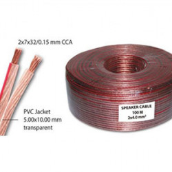 Kabl za zvučnike 2x4.0mm2 providni CCA