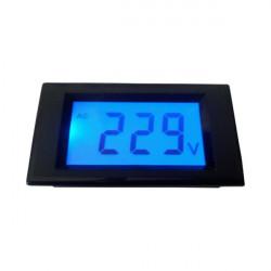 LCD voltmetar 0-500VAC plavi