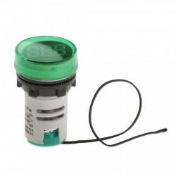 LED termometar 22mm zeleni