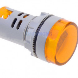 LED voltmetar 60-500VAC 22m žuti