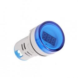 LED voltmetar 60-500VAC 22mm plavi