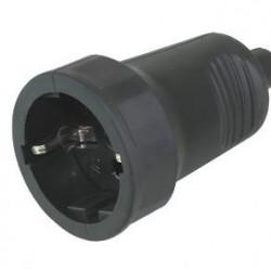 Šuko konektor ženski gumeni