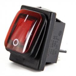 Vodootporni prekidač 30x22mm 16A 250VAC crveni