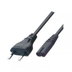 Kabl za napajanje 2x0.75mm2 1.5m crni