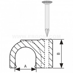 Kablovska obujmica sa ekserom 8mm