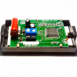 LCD voltmetar 80-500VAC plavi