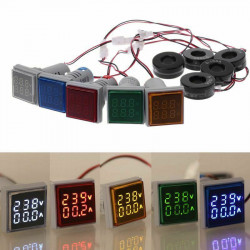 LED ampermetar/voltmetar 22mm žuti