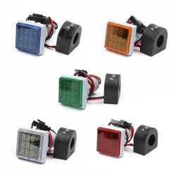 LED ampermetar/voltmetar/frekvencmetar 22mm zeleni