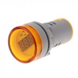 LED frekvencmetar 20-75Hz 22mm žuti