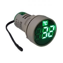 LED termometar AD22-22TM zeleni