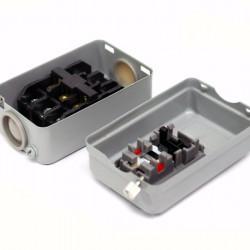 Metalna kutija za mašine sa dva dugmeta
