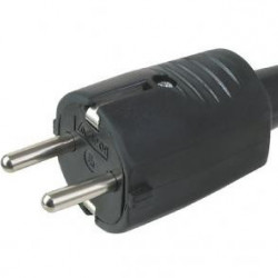 Šuko konektor muški gumeni