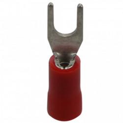 Viljuškasta kablovska papučica 4mm crvena