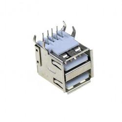 Ženski USB konektor tip A dupli za PCB montažu