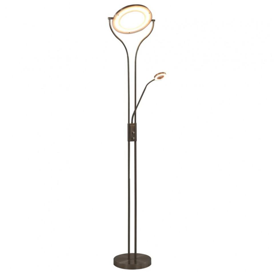 Lampă de podea, argintiu, 180 cm, 18 W, reglabilă