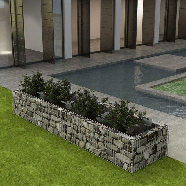 jardinier gabion din o el 360 x 90 x 50 cm. Black Bedroom Furniture Sets. Home Design Ideas
