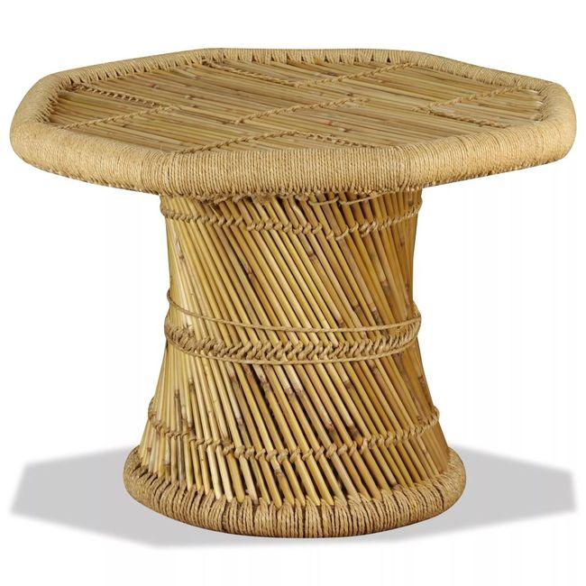 Masuta Cafea Bambus Octogonal