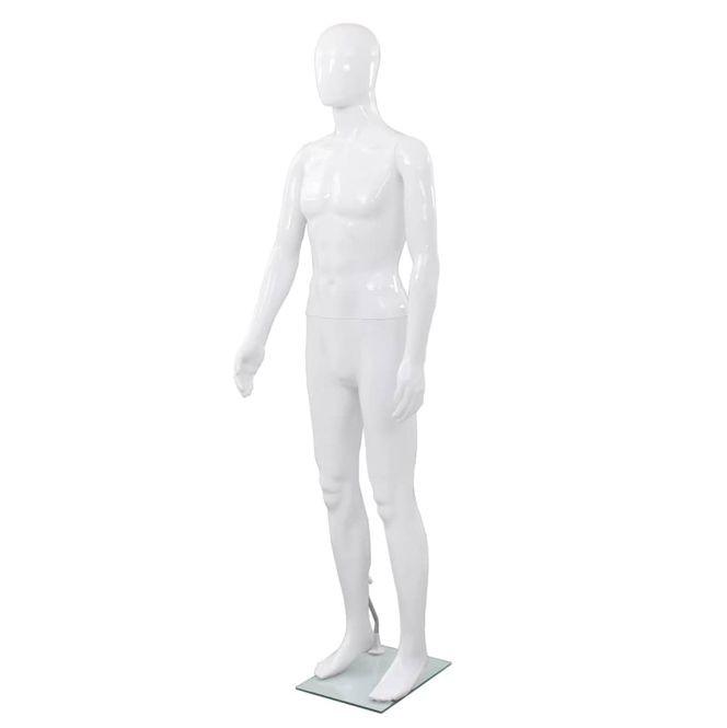 Corp Manechin Masculin Suport Sticla Alb Lucios - 14817