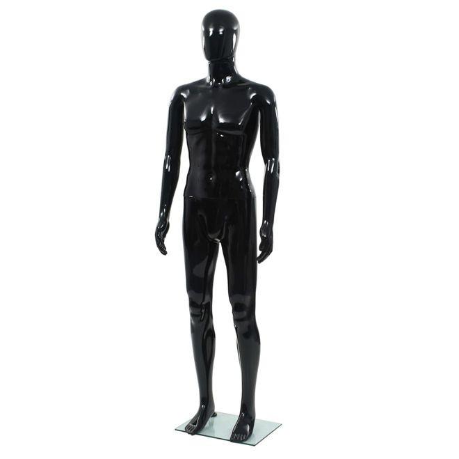 Corp Manechin Masculin Suport Sticla Negru Lucios - 14205