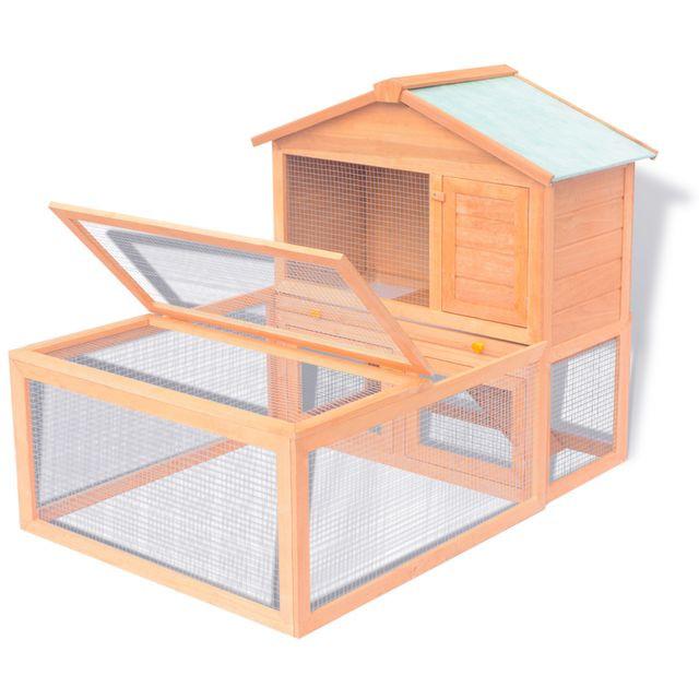 vidaXL Cușcă pentru iepuri și alte animale de exterior, lemn