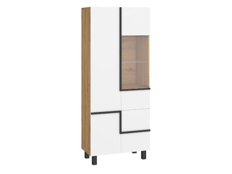 Imagine Mobila Sufragerie Lars Set 4 Oak Burgun - White