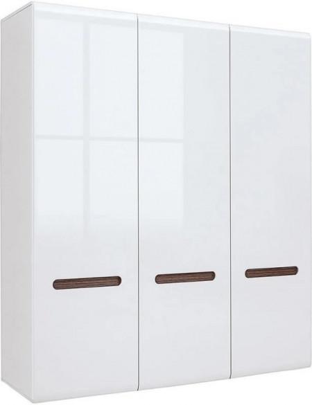 Azteca 018 dulap szf3d/21/18 white/white high gloss