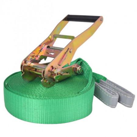Coardă echilibru, 15 m x 50 mm, 150 kg, verde