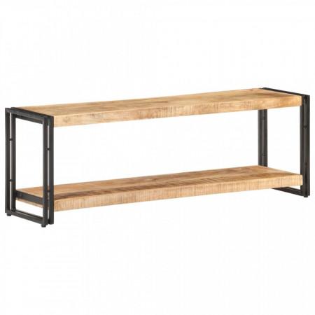 Comodă TV, 120 x 30 x 40 cm, lemn de mango nefinisat