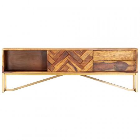 Comodă TV, 140x30x45 cm, lemn masiv de sheesham