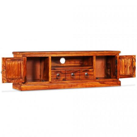 Comodă TV din lemn masiv de sheesham, 120 x 30 x 40 cm