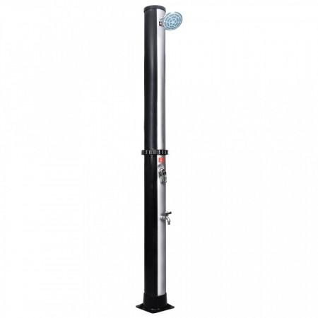 Duș solar de exterior cu cap de duș și robinet, 40 L