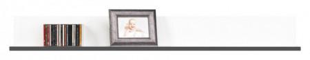 Gray gr-8 white mat-graphite raft de perete
