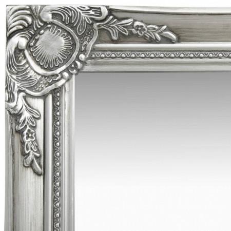 Oglindă de perete în stil baroc, argintiu, 40 x 40 cm