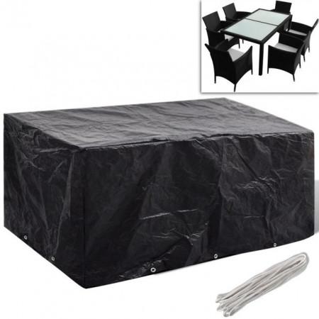 Prelată mobilier exterior din poliratan cu 10 inele 240 x 140 cm